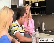 Lucy Tyler And Cherie Deville Crazy 3way On The Bed - scene 1
