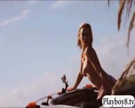 Sexy Badass Babes Reptile Wrangling And Topless Jetski Action - scene 5