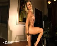Naked Thin Chic Spreads Her Long Legs And Play With A Glass Dildo Untill She Has A Intense Orgasm - scene 9