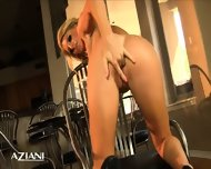 Avonna Masturbates On Chair Then Lays On The Floor And Fingers Her Pussy - scene 9