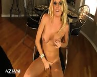 Avonna Masturbates On Chair Then Lays On The Floor And Fingers Her Pussy - scene 3