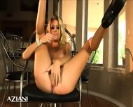 Avonna Masturbates On Chair Then Lays On The Floor And Fingers Her Pussy - scene 4