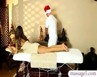 Dirty Masseur Fucked Hard And Jizzed On Her Big Tits Client - scene 5