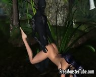 3d Elf Babe Getting Fucked In The Woods By A Monster - scene 1