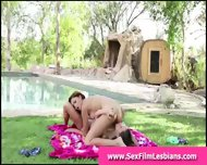 Outdoor Pussy Licking In Lesbian Sex Tape - scene 3