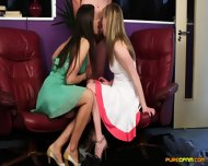 Lucky Man Getting Blowjob From Two Horny Girls - scene 11