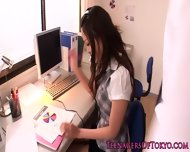 Asian Teen Toyed In The Workplace Pov Style - scene 2