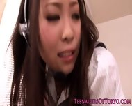 Asian Teen Toyed In The Workplace Pov Style - scene 7
