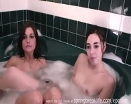 4 Girls In A Tub Sisters Kissing - scene 12