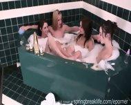 4 Girls In A Tub Sisters Kissing - scene 5