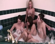 4 Girls In A Tub Sisters Kissing - scene 7