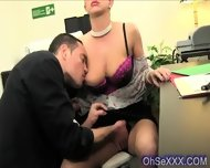 Young Perky Brunette Sucking Cock At Work - scene 3