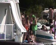 Girls Flashing On The Lake - scene 4