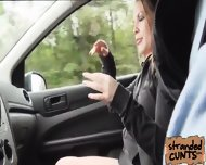 Alessandra Jane's Nice And Sweet Pussy Fucked In The Car - scene 2