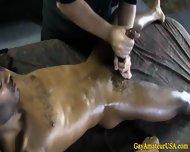 Ebony Straight Jock Thick Dick Massaged - scene 3