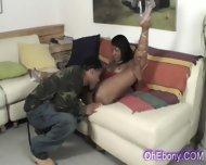 Perky Young Ebony Babe Slow Licked - scene 5