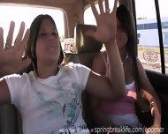 Girls Flashing In Traffic - scene 4