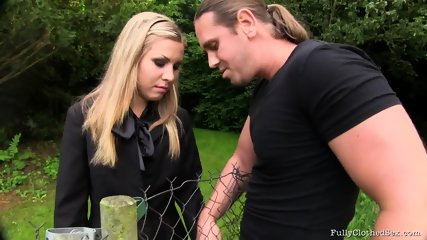 Sex Through The Fence - scene 3