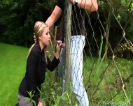Sex Through The Fence - scene 5