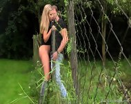 Sex Through The Fence - scene 6