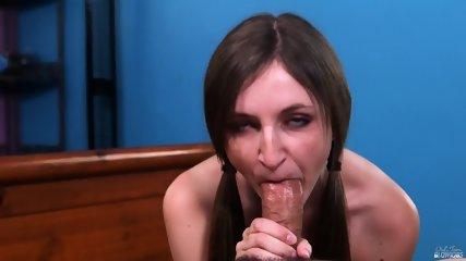 Shy Teen Sucks Dick - scene 7