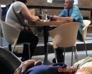 Hot Young Blonde Wants To Fuck In A Cafe - scene 5