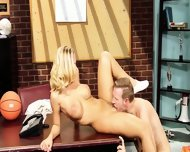 Sportswoman Fucked Hard On The Desk - scene 5
