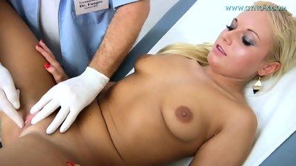 Blonde Gets Gyno Exam - scene 9