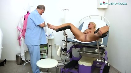 Blonde Gets Gyno Exam - scene 10