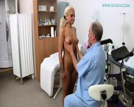 Blonde Gets Gyno Exam - scene 3