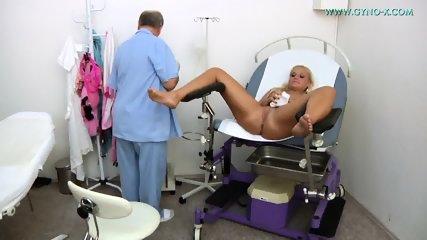 Blonde Gets Gyno Exam - scene 5