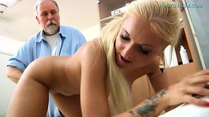 Blonde Gets Gyno Exam - scene 6