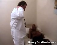 Doc Does A Horny Blonde Granny - scene 10