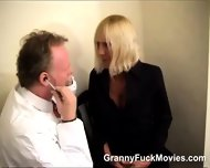 Doc Does A Horny Blonde Granny - scene 7