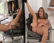 Glamorous Blonde In Solo Action In Front Of Mirror - scene 11
