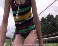 Blonde Flashes Outdoors - scene 7
