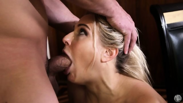 Blonde MILF Sucks Cock Like A Whore