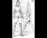 Girl Vs Girl Catfight Tribbing Bondage Spanking Lesbians - scene 9
