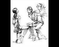 Girl Vs Girl Catfight Tribbing Bondage Spanking Lesbians - scene 4