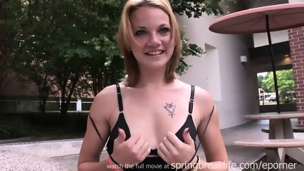 Cute Girl Flashing On Campus - scene 9