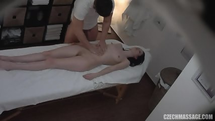 Horny Masseur's Dick In Amateur Brunette - scene 5