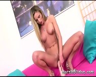 Hot Blonde Russian And A Huge Dildo - scene 10
