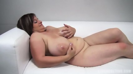 Fat Amateur Plays With Dick At The Casting - scene 5