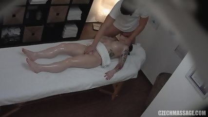 Amateur Brunette Gets Pussy Massage - scene 10