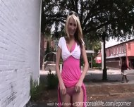 Hot Blonde Flashes Downtown - scene 5