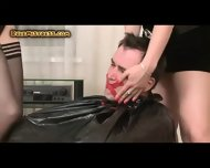 Two Mistresses Humiliating A Guy - scene 1