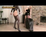 Two Mistresses Humiliating A Guy - scene 7