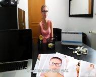 Shy Redhead Lucie Fucked On Desk - scene 5