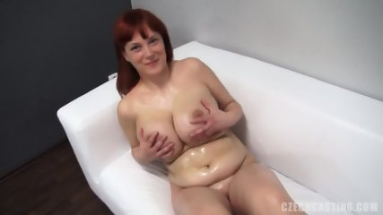 Redhead Amateur Plays With Dildo - scene 9