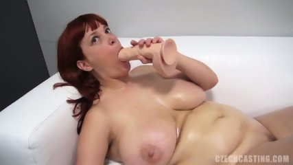 Redhead Amateur Plays With Dildo - scene 11